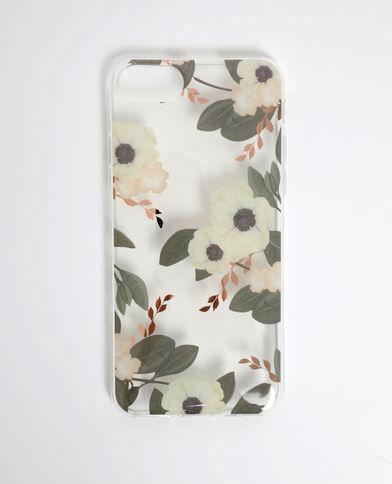 Coque à fleurs compatible iPhone rose