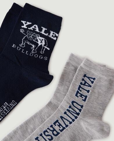 Set van 2 paar YALE-sokken zwart - Pimkie