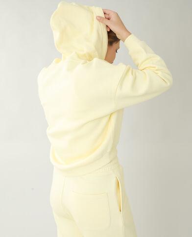 Sweat à capuche molleton jaune pâle - Pimkie