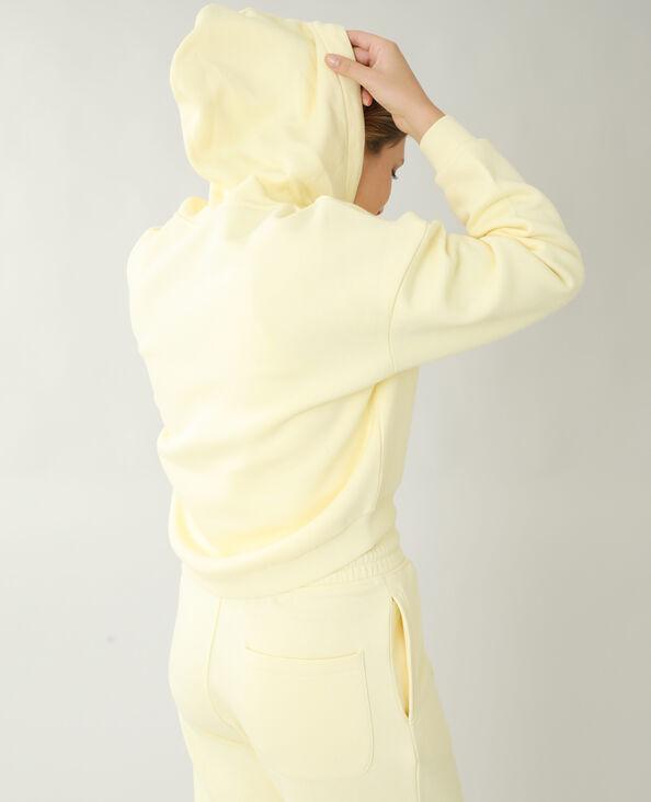 Moltonsweater met kap bleekgeel - Pimkie