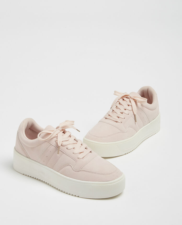 Baskets plateforme rose nude