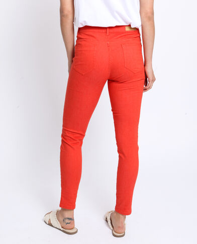 Pantalon push up mid waist orange
