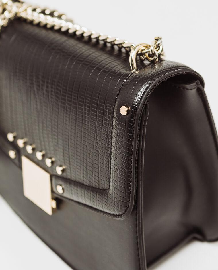 Tas met studs zwart