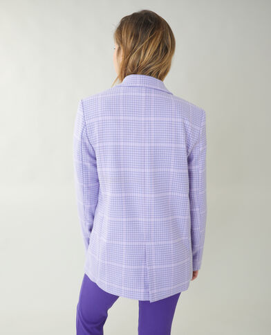 City-jasje met pied-de-pouleprint violet - Pimkie