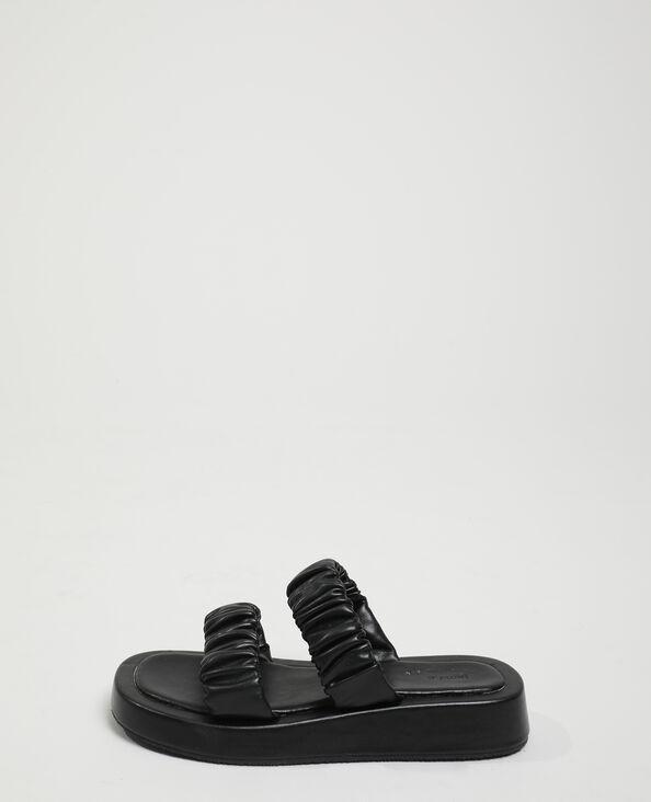 Instappers met plooitjes zwart - Pimkie