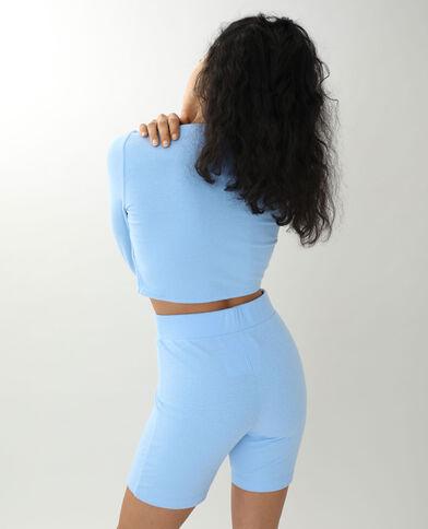 Gekruist shirt blauw