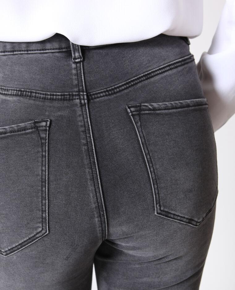 Skinny jeans met hoge taille grijs