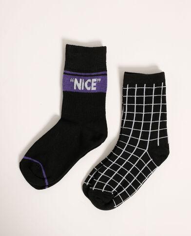 Set van 2 paar sokken zwart - Pimkie