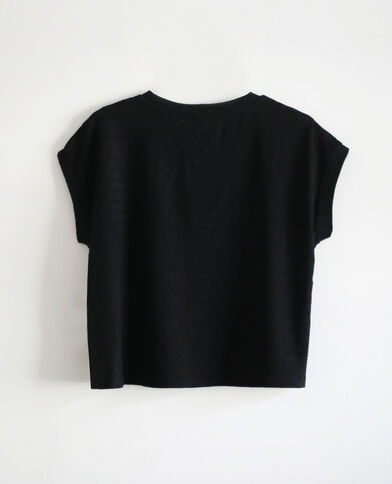 T-shirt à broderies noir
