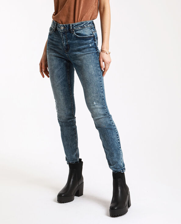 Skinny push-up jeans donkerblauw