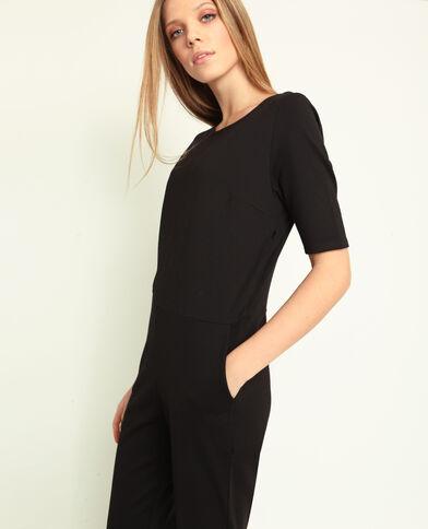 Jumpsuit met korte mouwen zwart