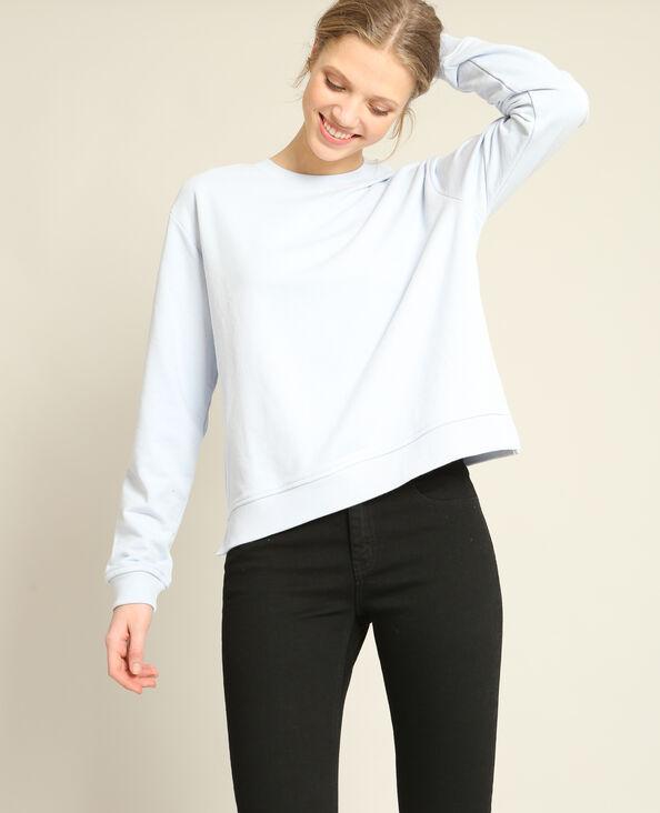 Basic sweater blauw