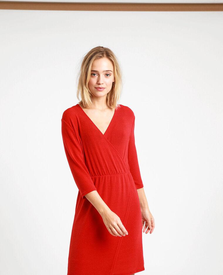 Robe à paillettes rouge