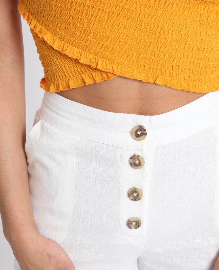 Pantalon cropped blanc