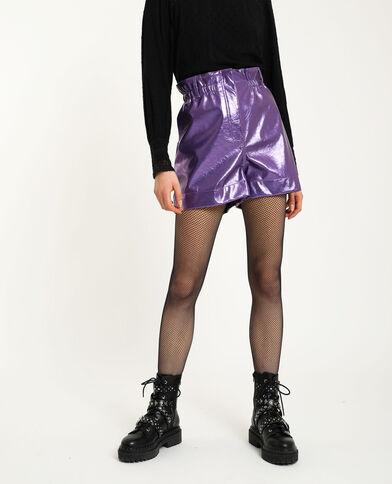 Short van kunstleer violet