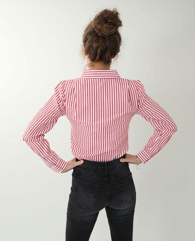 Hemd met epauletten rood