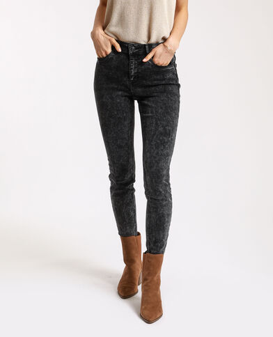 Skinny push-up jeans antracietgrijs