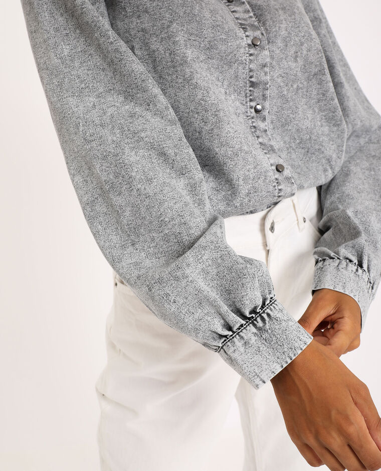 Chemise en jean gris