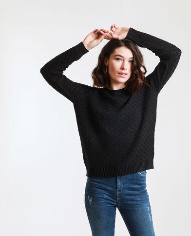 Trui van origineel tricot zwart