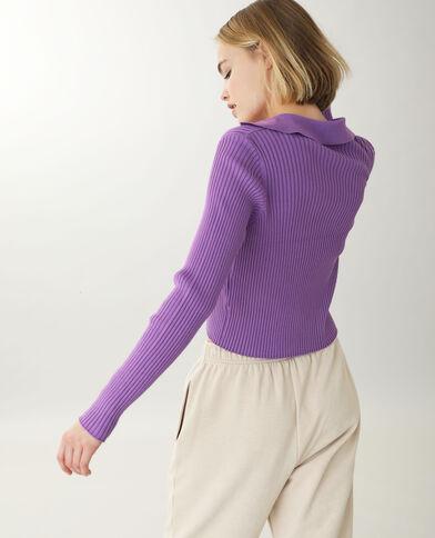 Shirt van ribstof violet - Pimkie