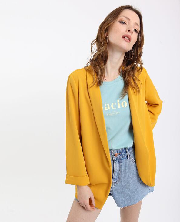 Soepelvallend blazerjasje geel