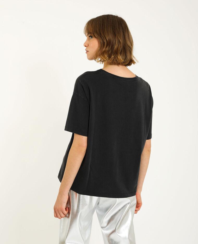 T-shirt met korte mouwen zwart