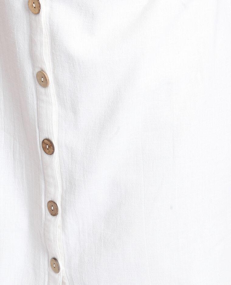 Robe boutonnée blanc cassé