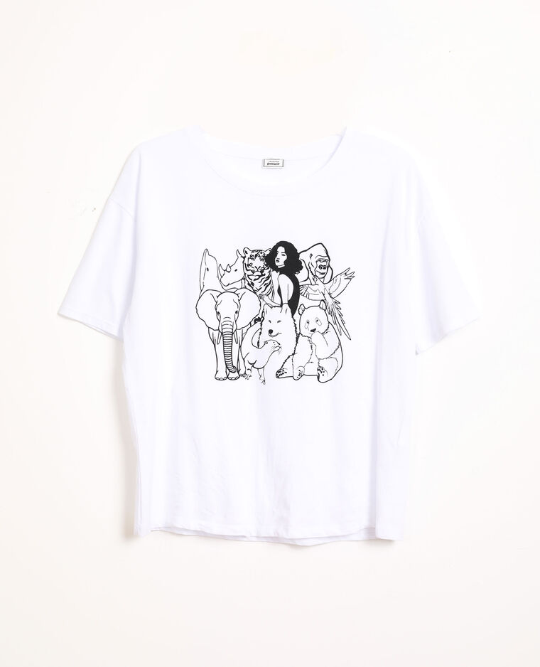 T-shirt imprimé blanc - Pimkie