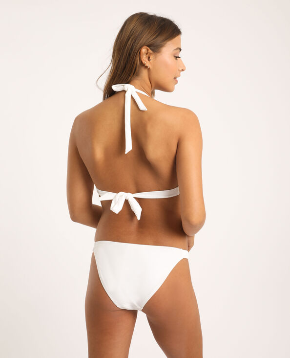 Bas de bikini tressé blanc