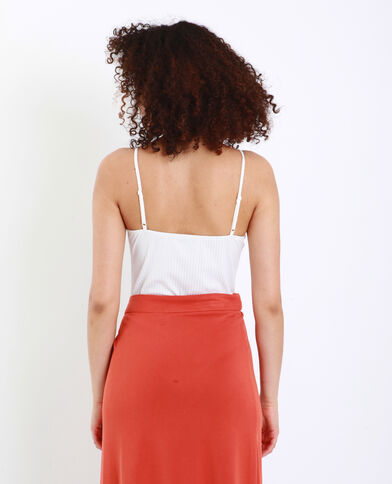 Body met dunne schouderbandjes ecru