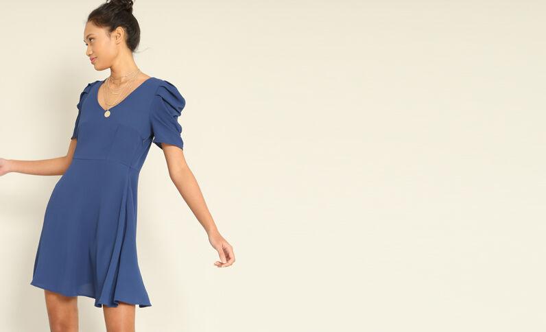 Soepelvallende jurk donkerblauw