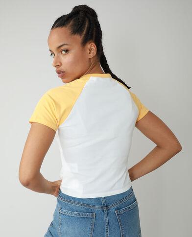 T-shirt met tekst wit - Pimkie
