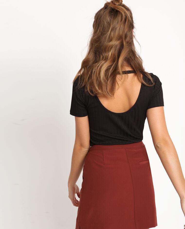 T-shirt à dos ouvert noir