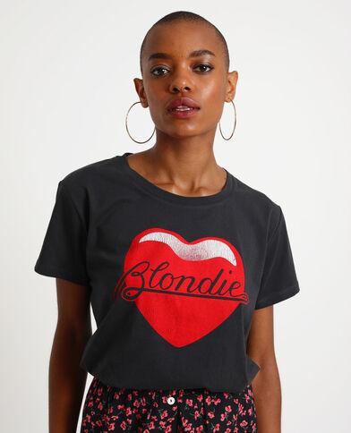 T-shirt Blondie noir