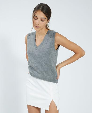 Dunne trui zonder mouwen grijs - Pimkie