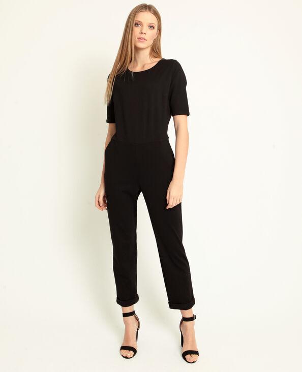 Combi-pantalon à manches courtes noir