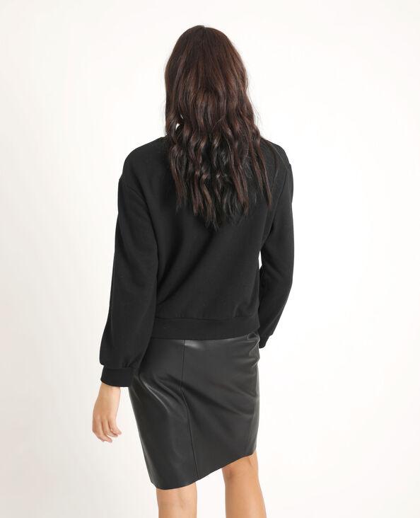 Sweater met borduursels zwart