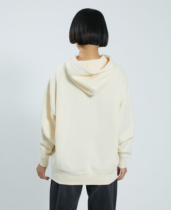 Sweater met kap wit - Pimkie