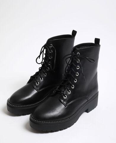 Boots style motard noir