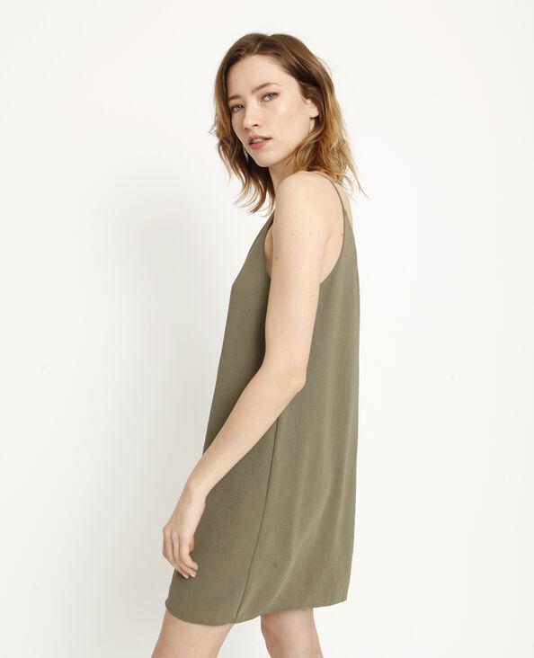 Robe à fines bretelles vert