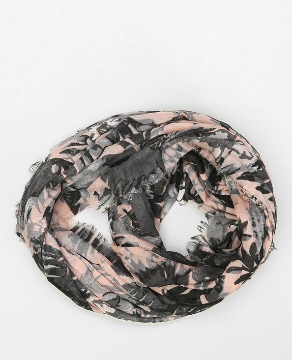 Dunne snood met print oud roze