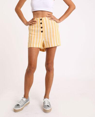 Short met strepen geel