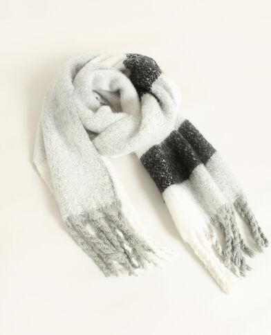 Warme sjaal grijs
