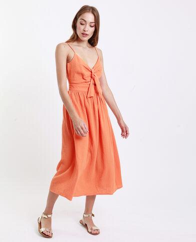 Robe nœud poitrine orange