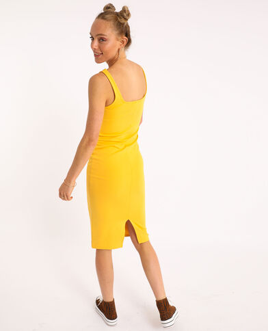 Robe bodycon jaune
