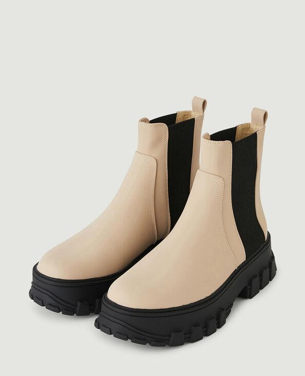 Tweekleurige boots grijs - Pimkie