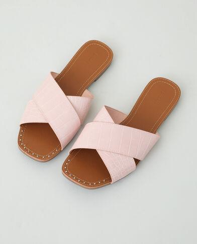 Instappers met krokodilmotief roze - Pimkie