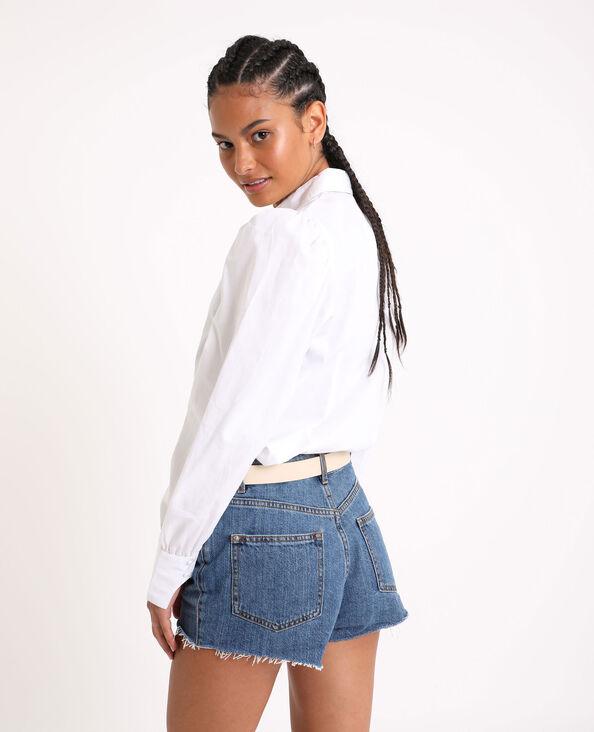 Hemd met pofmouwen wit - Pimkie