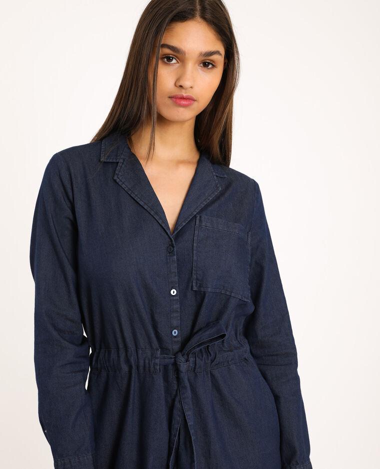 Robe chemise denim bleu - Pimkie