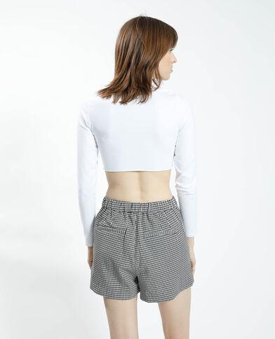 Cropped zen-T-shirt wit - Pimkie
